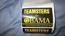 3 X 2 Teamsters for Obama Sticker Campaign Material Election Bumper