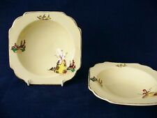 Adams Royal Ivory - Titian Ware - Art Deco - Pair Of Bowls