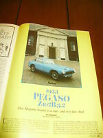 1953 PEGASO Z102B/3.2 SPORTS CAR  ***ORIGINAL 1979 ARTICLE***