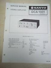 Sanyo Service Manual~Dca-1001 Amplifier~Original~Repair