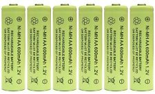 6 x AA 1.2V 600mAh NiMH Rechargeable Batteries for Solar Lights - replaces NiCd