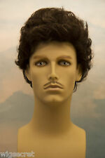 Medium Blonde Grey Brunette Wavy Natural Look Men's Wig