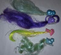 Lot of 4 Vintage MLP Lady Lovely Locks Pixietails Hair  Extension Clips