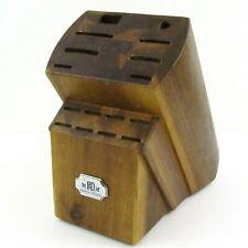 Paula Deen 16 Slot Acacia Wooden Knife Block Cutlery Storage Holder PD 728092