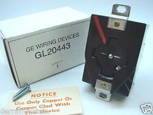 GE Arrow-Hart GL20443 Power-Lock 480VAC 30A Receptacle Outlet b92/bb92