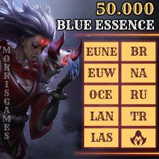 ❧ 50k LoL League of Legends 50.000💫60.000 BE Blue Essence Unranked Level 30 ☙