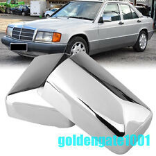 Chrome Rearview Mirror Cover Trim For Mercedes W201 190E W124 E300 E320 84-93 GG