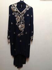 Salwar Kameez Suit & Duppata Asian Indian Bollywood  M   Ret £250   BNWT