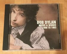 Bob Dylan - Music & Words 1998 to 1963 [Rare Promo CD] Free Shipping