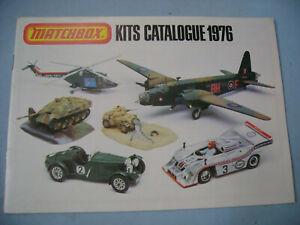 "1976 MATCHBOX LESNEY MODEL KITS CATALOGUE 8"" X 6"" AIRCRAFT AUTOMOBILES MILITARY"