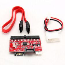 SATA Serial-ATA to 3.5 IDE PATA HDD Converter Adapter ATA100/133 + Cable