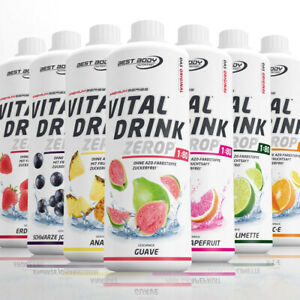 Best Body Nutrition Low Carb Vital Drink Mineraldrink Getränkesirup 1000 ml