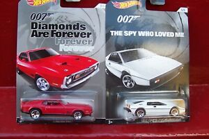 HOT WHEELS - 2 x LONG CARDED - 007 - LOTUS ESPRIT SI & '71 MUSTANG MACH I...