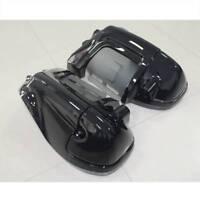 Vivid Black Lower Vented Leg Fairing For Harley Davidson Touring Road King 83-13