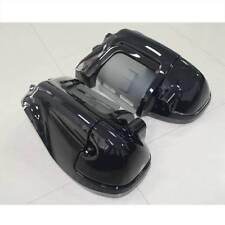 Gloss Black Lower Vented Leg Fairing Glove Box For Harley-Davidson Touring 83-13