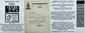 """""""MR BANKNOTE"""" PRESIDENT CEO COLUMBIAN US BANKNOTE CO. NY ESTY LETTER SIGNED 1949"""