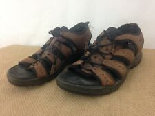 Ecco Mens EU 43 Brown Open Toe Hiking Walking Shoes Sandals