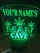 Marijuana Personalized Man Cave Led Neon Light Sign Bar Pub Color Change Rgb