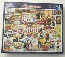 """White Mountain Americana 1000 Piece Jigsaw Puzzle 24"""" x 30"""" Collage New Sealed"""