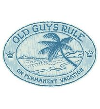 "Old Guys Rule "" On Permanent Vacation "" ""Living The Good Life "" Beach Palm S/S M"