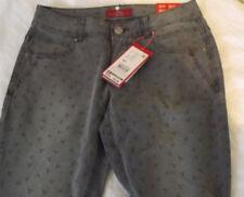 s.Oliver Hose Jeans Jeanshose grau mit Print UVP 59.95 Gr.40/32 smart chino