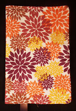 New Fabric Standard Paperback Book Cover - Floral Orange Gold Browns on Cream