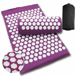 Massage Yoga Mats ABS Cotton Cushion Acupressure Reli Stress Back Pain Pads