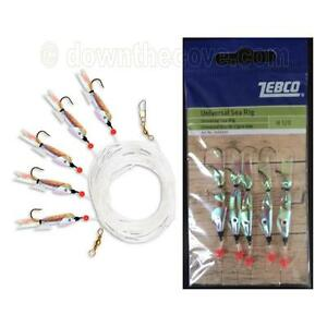 Zebco Universal Sea Paternoster Rig with 5 Lures Hook Size 1/0 - 1st Class Post!