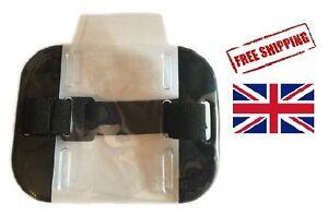 SECURITY ARMBAND SIA ID BADGE HOLDER - BLACK- UK STOCK