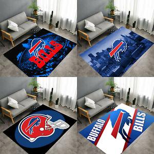Buffalo Bills Anti-Skid Rug Area Rugs Floor Mat Soft Carpet Living Room Bedroom