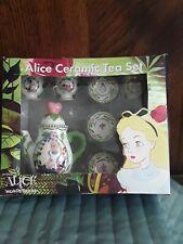 Disney Colibri Alice Ceramic Tea Set For 4 New In Box