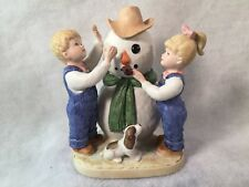 "Homco ""Denim Days"" 1985 #1508 Our Snowman No Tag"