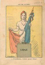 Election Urne Electorale Marianne Drapeau Français France Front Populaire 1936