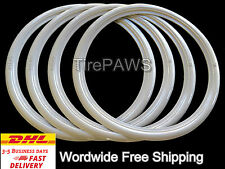 "15"" Motorcycle WhiteWall Port-a-wall Sidewall Tire insert trim set of 4 pcs"