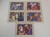 ROYAL MAIL STAMP CARD SERIES PHQ POSTCARDS SET CHRISTMAS 1992
