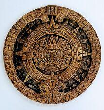 "19"" Aztec Solar Xiuhpohualli & Tonalpohualli Wall Calendar Sculpture Plaque"