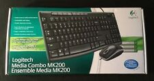 New Logitech Media Combo MK200 Keyboard and Mouse Optical wired (4-Pack)