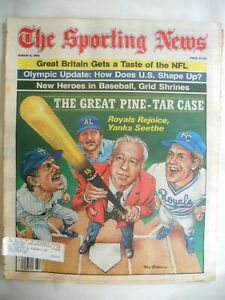The Sporting News Aug. 8, 1983 Issue The Great Pine-Tar Case
