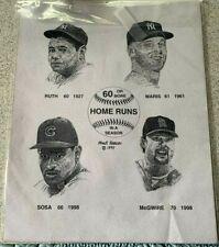 "Frank Nareau Print 60 Or More Home Runs In A Season Unframed. 11"" x 14"""