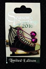 Disney Sleeping Beauty Seasons Greetings Maleficent Ice Skate Pin LE6000