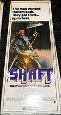 SHAFT! '71 CLASSIC BLAXPLOITATION ORIGINAL INSERT FILM POSTER!