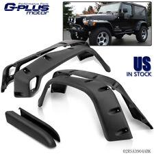 """Wide Black Pocket Extended Fender Flares Kit For 97-06 Jeep Wrangler TJ 6"""""""