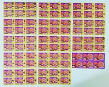 Malaysia 1979 Flowers 1c MNH Stamps, All States Johor to Wilayah, 14 Blocks of 6