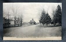 1907 Railroad Station RR and Park Tenafly NJ Antique Postcard PC View DB