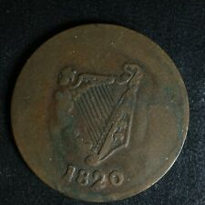 LC-60-7 1820 token Lower Bas Canada Quebec Bust and Harp Breton 1012