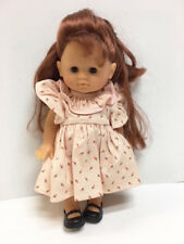 """Corolle 10"""" Corolline Red Hair Girl All Vinyl Jointed Doll In Tagged Clothes"""