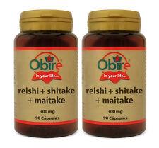 ENVÍO URGENTE: REISHI + SHIITAKE+ MAITAKE 300 mg. 2x90c.Obire