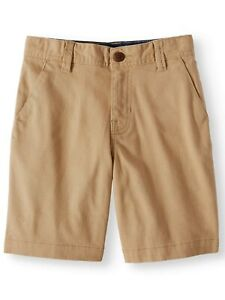 Wonder Nation Boys Flat Front Shorts Size 6 Beige School Uniform Approved NEW