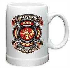 FIREFIGHTER - COURAGE SACRIFICE - BEER STEIN MUG - BRAND NEW 20 OUNCES FF2100PS