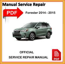 Subaru Forester 2014 2015 Factory Service Repair Workshop Manual